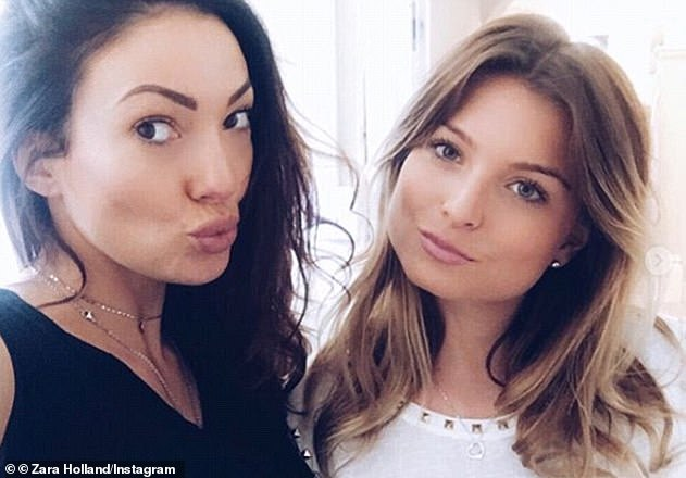 Further heartache: Sophie'sco-star Zara Holland later revealed she was on antidepressants two years after appearing on the show - and claimed contestants didn't receive enough aftercare (Zara pictured with late Love Island star Sophie)