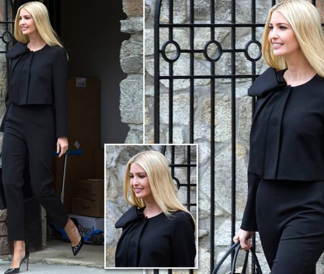 Ivanka Trump Steps Out In A Black Suit After Being Mocked For Video Daily Mail Online