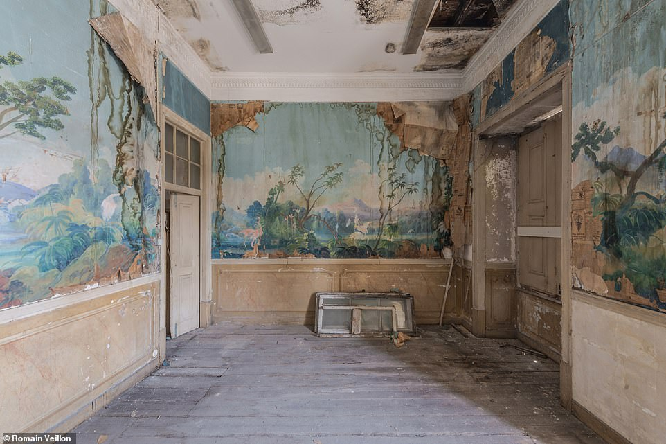 On entering these eerie buildings, Mr Veillon knew there would be incredible art. Other times, the frescoes adorning the walls were a complete surprise
