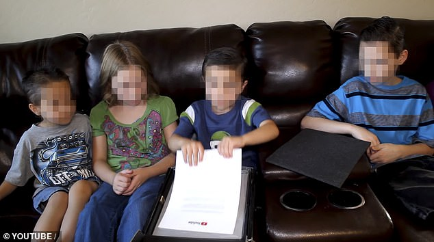 The videos featured the children (above in a clip) perform in whimsical scripted scenarios and Nerf battles for the YouTube channel that had250 million views
