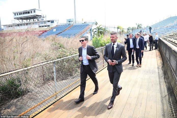 """Beckham described the occasion as an """"exciting day"""" and stated that the club's facilities will be available to everyone in the area"""