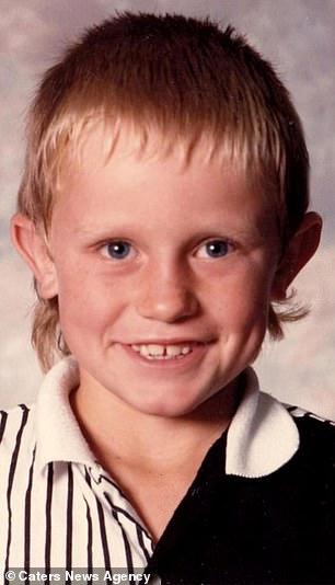 Jared aged eight
