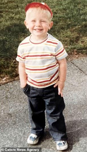 Jared aged three