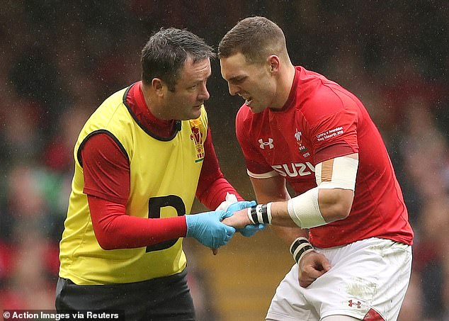 George North was replaced at the Principality Stadium after breaking two bones in his hand