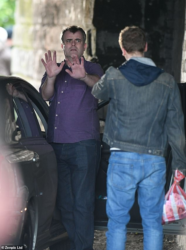 Drama: His character Steve McDonald is set to find himself in serious danger as he's abducted and threatened at knife point