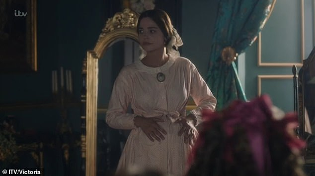 New series: Victoria kicked off its long-awaited third series in style on Sunday, as the 'perpetually pregnant' Queen battled a brewing rebellion and a surprise family arrival