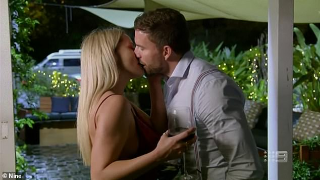 Prime time viewing: More than 1.6million viewers watched Sunday night's episode - and Jessika said it was her secret liaison with Dan (pictured kissing) that kept people glued to their screen