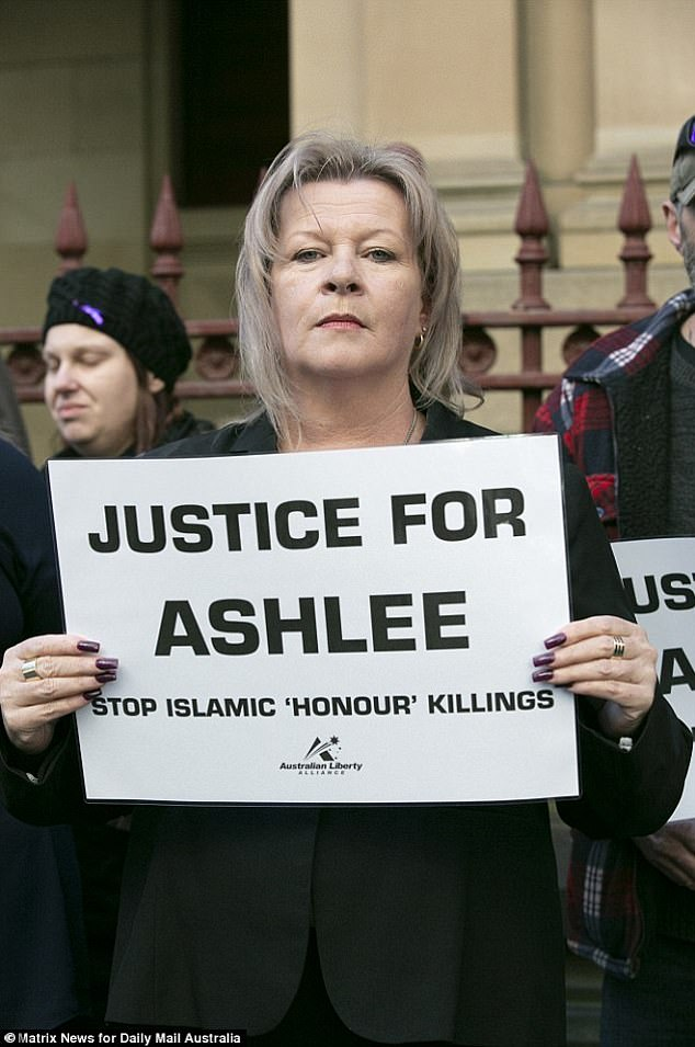 Siobhann Brown (pictured) had not heard from her eldest daughter Ashlee for five years when she learnt of her death. Ashlee had called to say she was converting to Islam to get married. Ms Brown believes her daughter's death had 'all the hallmarks of an Islamic honour killing'