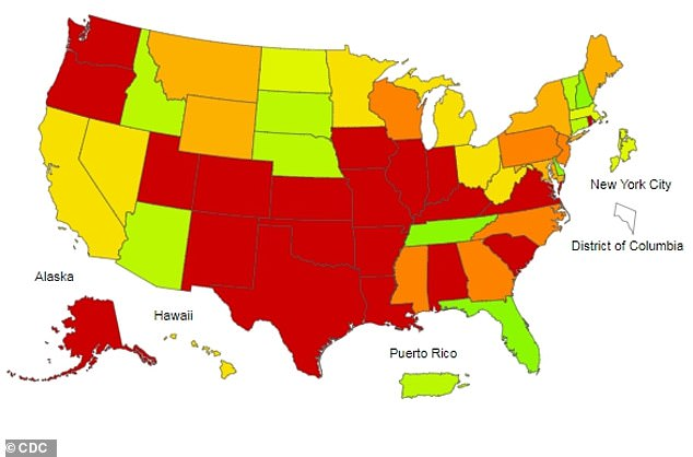 Number of people visiting the doctor for flu-like symptoms is ...