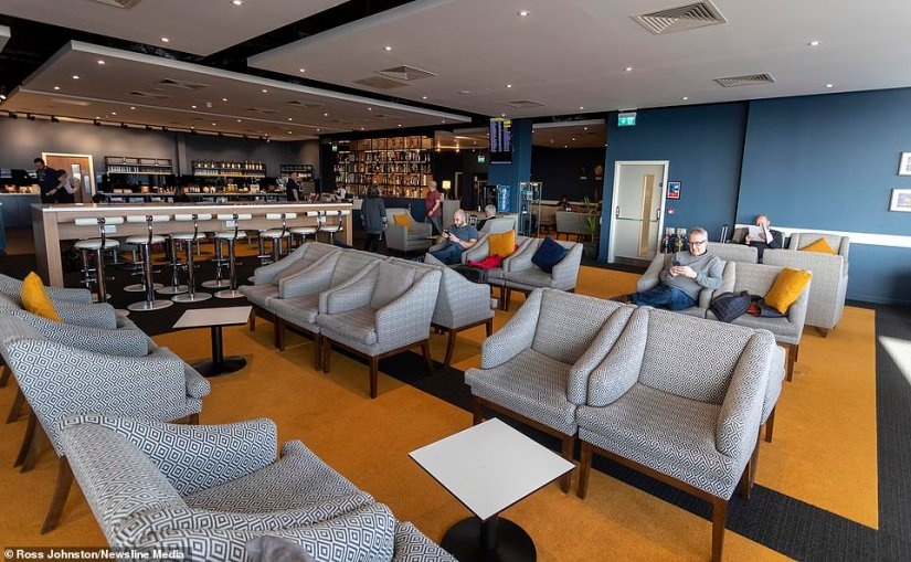 Coming highly commended in Europe is theNorthern Lights Executive Lounge in Aberdeen International Airport, pictured, which has a dedicated whisky wall