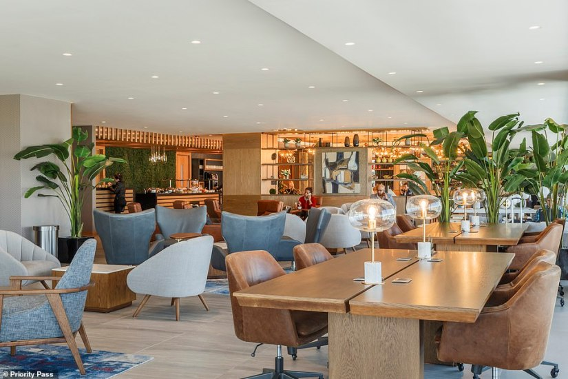 TheSala VIP Internacional lounge inside Quito International Airport in Ecuador, pictured, has been named as the best in the world in theGlobal Airport Lounge of the Year Awards