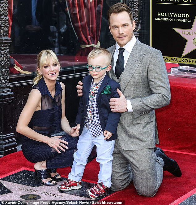 Co-parents: The exes share a six-year-old son Jack (pictured in 2017)