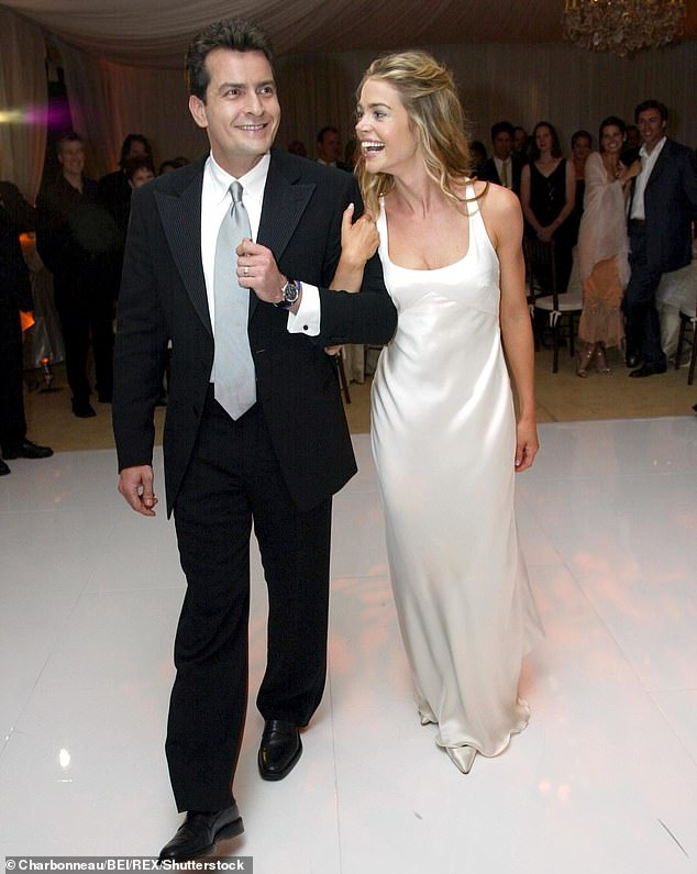 First time: Denise while quickly planning her second marriage recalled her 2002 wedding to first husband Charlie Sheen