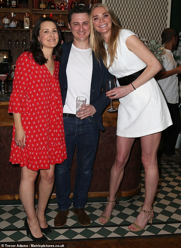 Friends: Jodie launched the new skincare range alongside Skin & Tonic foundersSarah Hancock and Joshua Wade