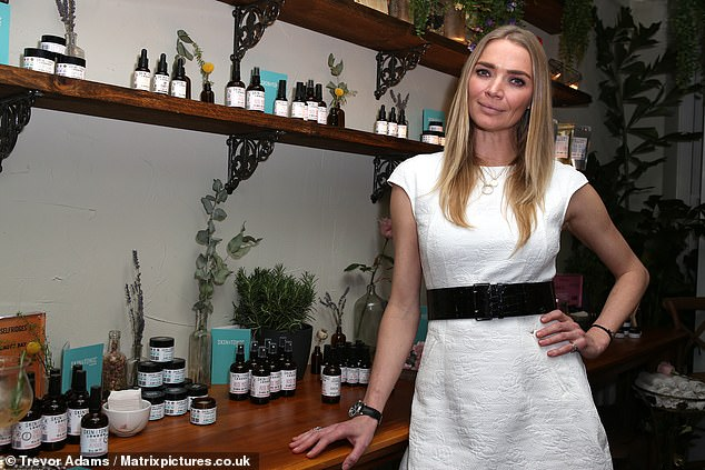 New range: Jodie is a fan of the Skin & Tonic range, launched by Sarah Hancock and her boyfriend Joshua Wade