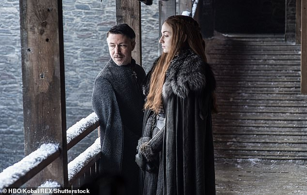 Slip of the tongue? Aidan Gillen (left) may have accidentally revealed a major spoiler about the upcoming final season of Game of Thrones this week