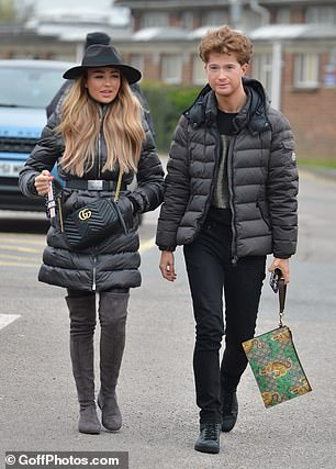 Besties: Newcomers Ella Rea Wise and Joey Turner were the best of friends as they arrived at the stadium