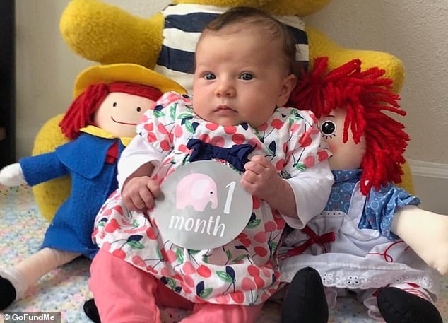 McCall took her daughter to the pediatrician in Salem, Oregon, that same day, who told her to go back to the ER. That's when doctors finally recognized that Evianna (pictured) had bacterial meningitis