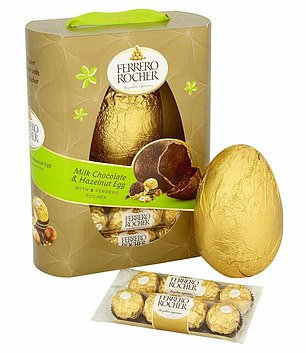 Ferrero Rocher Milk Chocolate & Hazelnut is one the most calorie-ridden Easter eggs on the market with a total of1,672kcals