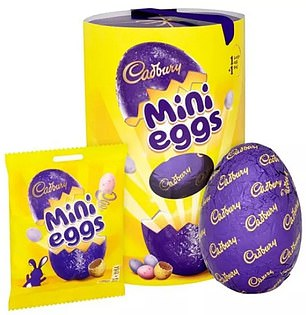 This is closely followed by Cadbury Mini Eggs, which has a total of 1,374kcals