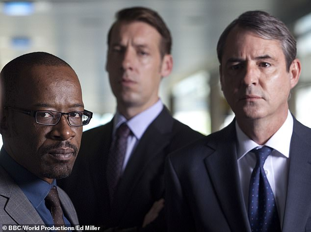 Line Of Duty with Lennie James as DCI Tony Gates, Craig Parkinson as DS Matt Cottan and Neil Morrissey as DC Nigel Morton