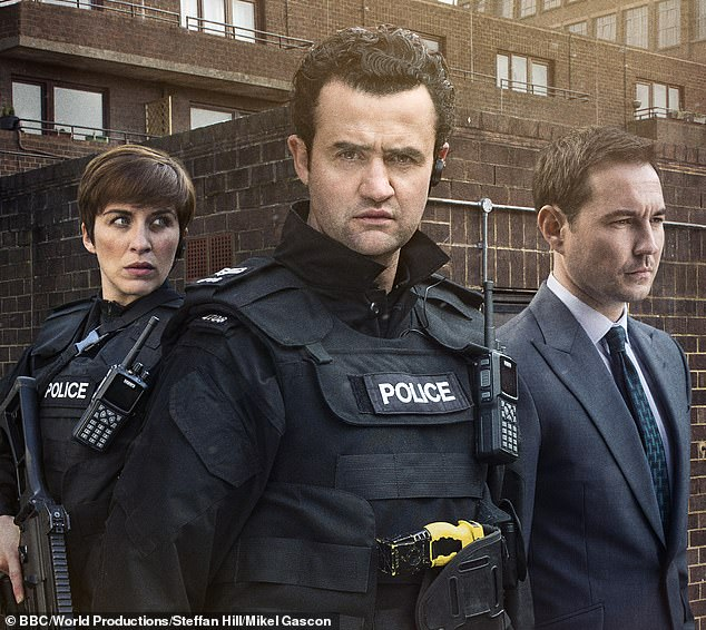 Line of Duty with Vicky McClure as DC Kate Fleming, Daniel Mays as Sergeant Danny Waldron and Martin Compston as DS Steve Arnott