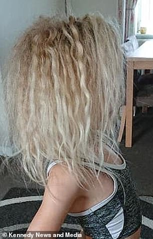 Now she knows her daughter's hair is officially uncombable, Charlotte no longer tried to wrangle with Wynter's crinkled blonde mop