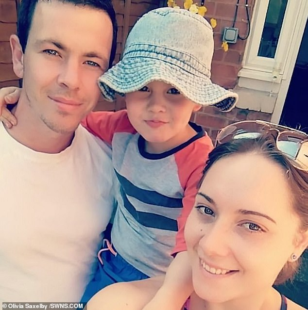 Pictured as a family before the ordeal, his parents are 'over the moon' a match has been found