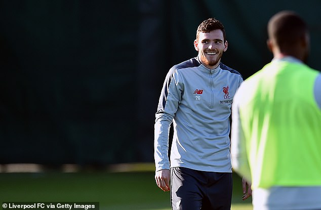 Andy Robertson is fit and available after undergoing mouth surgery last week