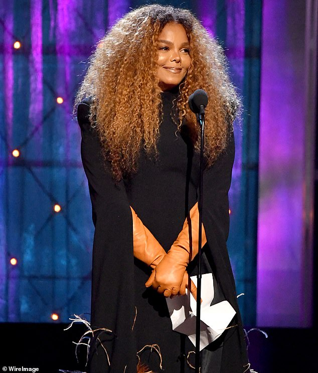 On blast: Janet Jackson encouraged the Rock & Roll Hall of Fame to induct more women next year