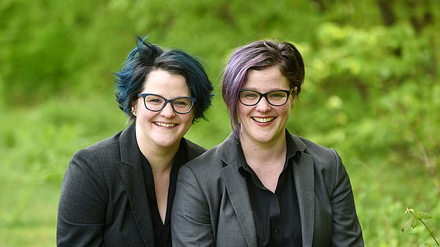 Twins Emily and Amelia Nagoski, pictured, are identical twins, but Emily, left, has never spent a day in hospital, while her sister Amelia, right, has been plagued by health problems