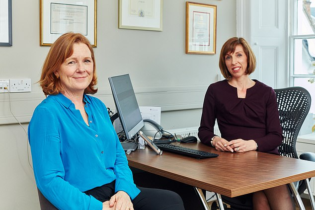 Ms Lang, pictured with GP Louise Newsome, right, who specialises in menopausal woman, saw her libido disappear after being thrown back into 'an unbearable menopause nightmare' during her breast cancer treatment