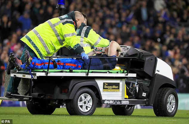 Leinster flanker Dan leavy had to be taken from the pitch on a stretcher after a knee injury