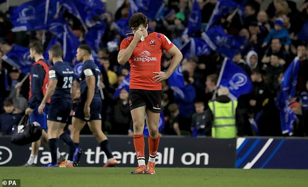 Ulster wing Jacob Stockdale was inconsolable after his error cost his side a score