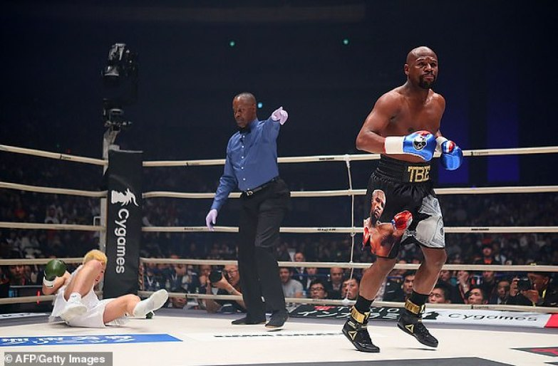 The 42-year-old returned to the ring in January to face Tenshin Nasukawa in an exhibition fight