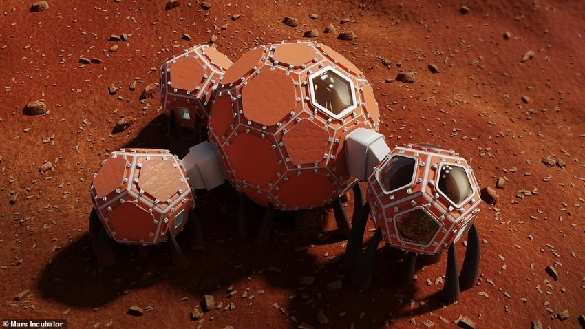 NASA has announced three finalists in an ongoing design competition tasking engineers to dream up sustainable dwellings that can be 3-D printed on Mars. Mars incubator design represents a modular look at space dwelling and allows for plenty of natural light.