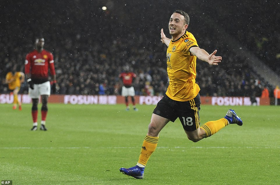 Image result for Wolves 2-1 win over United in pics