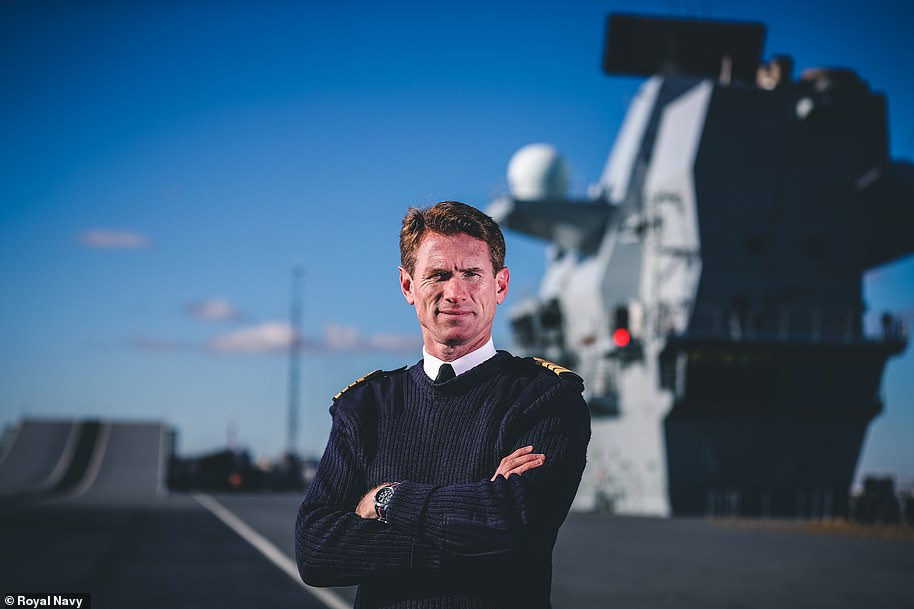 Commodore Nick Cook-Priest was the new captain of the ship and is pictured above in his official portrait