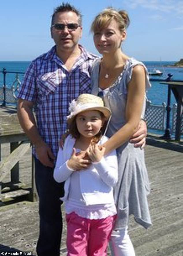 After Abbie's death in 2011, her parents Ray and Amanda (left, right) started Abbie's Army and have tirelessly raised awareness and money to support DIPG research