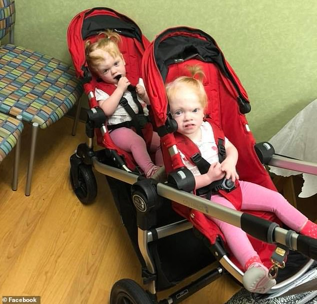 Doctors warned parents Heather and Riley that separation surgery could kill one or both of the twins. Pictured: Erin, foreground, and Abby, background