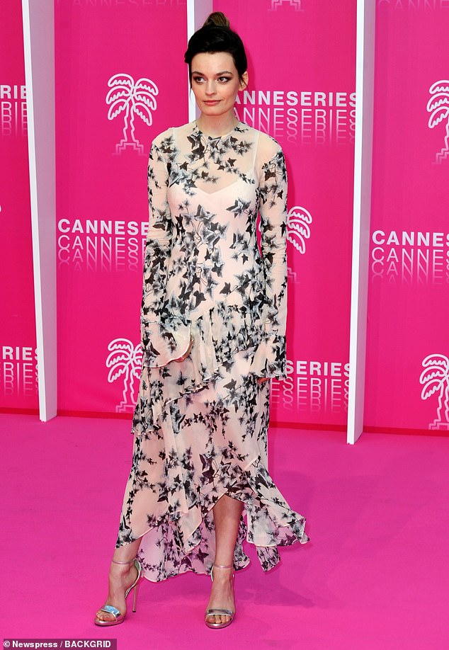 Dressed to impress! Emma Mackey put on an elegant display on the pink carpet at the opening ceremony of the Cannes International Series Festivalin Cannes, France on Friday