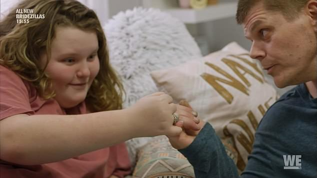 Sweet:In scenes that may now haunt him, he then linked little fingers with Alana and told her: 'Pinky promise, I'm not gonna go jail again and I promise I'll be here for you'