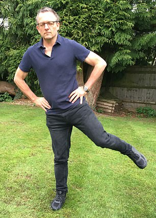 'I managed eight seconds, not bad for a 62-year-old,' says Dr Michael Mosley (pictured)