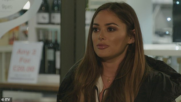 Pushing back: During their chat Courtney spills that Dan is still in touch with his ex Amber Turner despite his new romance with Chloe