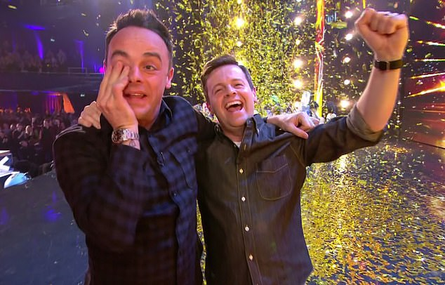 Ant McPartlin was reunited with co-host Declan Donnelly in an emotional episode of Britain's Got Talent