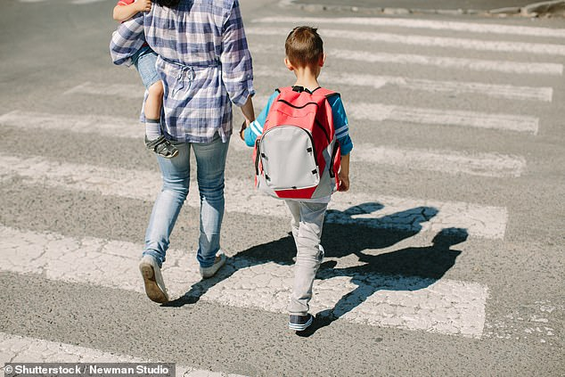 A new study from the National Institutes of Health has found that children who live less than one-third of a mile away from major roads are more likely to experience developmental delays than children who lived more than half a mile away (file image)