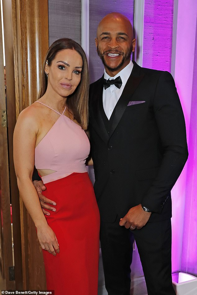 Good together:They enjoyed a rare night off their parenting duties to throw their support behind the glittering charity ball attended by the likes of Jess Wright and Kimberley Garner