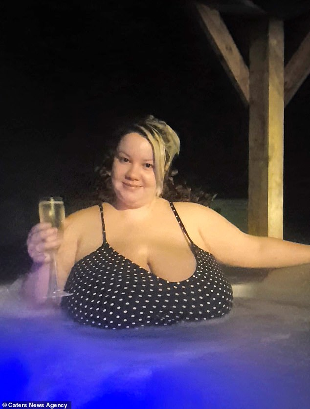 Fiona Hornby, 25, from Bolton, has struggled with the size of her breasts since the age of 10, and has watched in horror as they grew from a C cup to a 48 J during puberty