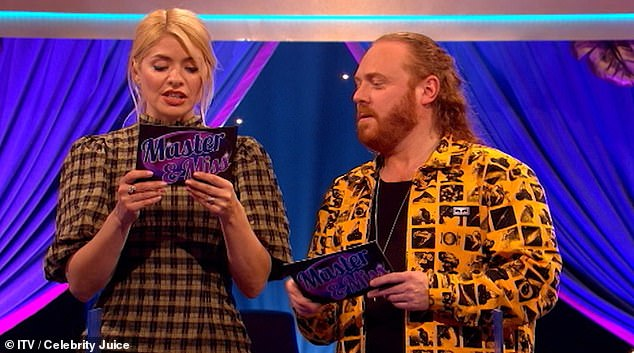 Back in the hot seat: Keith was hosting another edition of his outrageous comedy show, joined by team captain Holly Willoughby