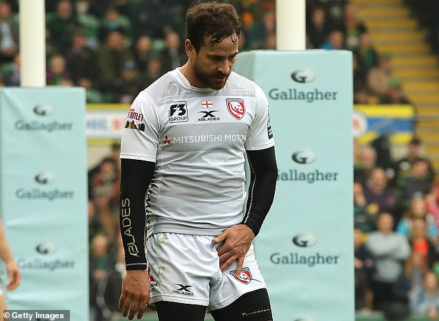 Danny Cipriani was forced off against Northampton with an injury to his groin